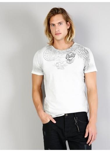 Colin's Desenli T-Shirt Gri